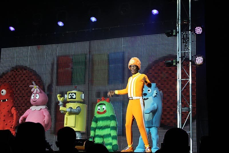 How cool to be so close to DJ Lance Rock and all the characters from Gabbaland.