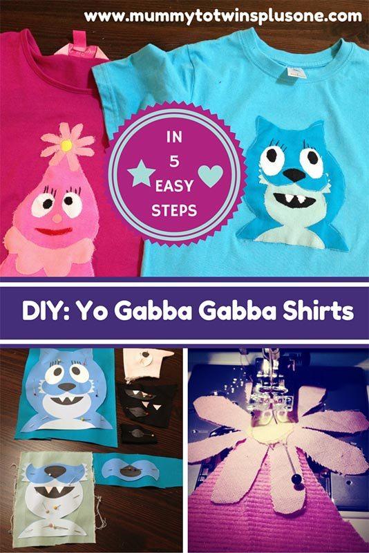 Sew Yo Gabba Gabba Shirts in 5 Easy Steps
