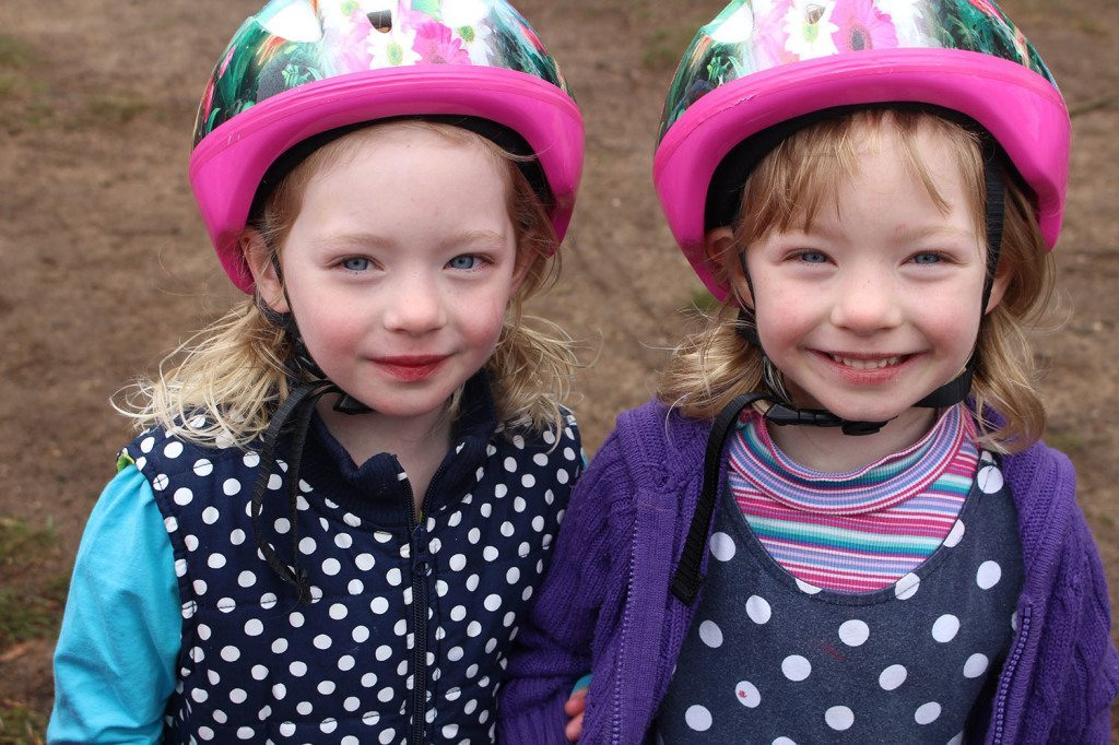 The girls on the 12th of Sept. The day before they turn six. They have grown so much.