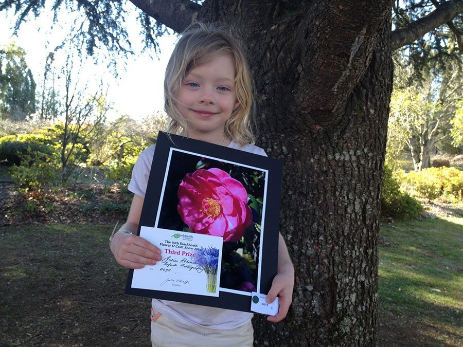 Julia with her winning photo
