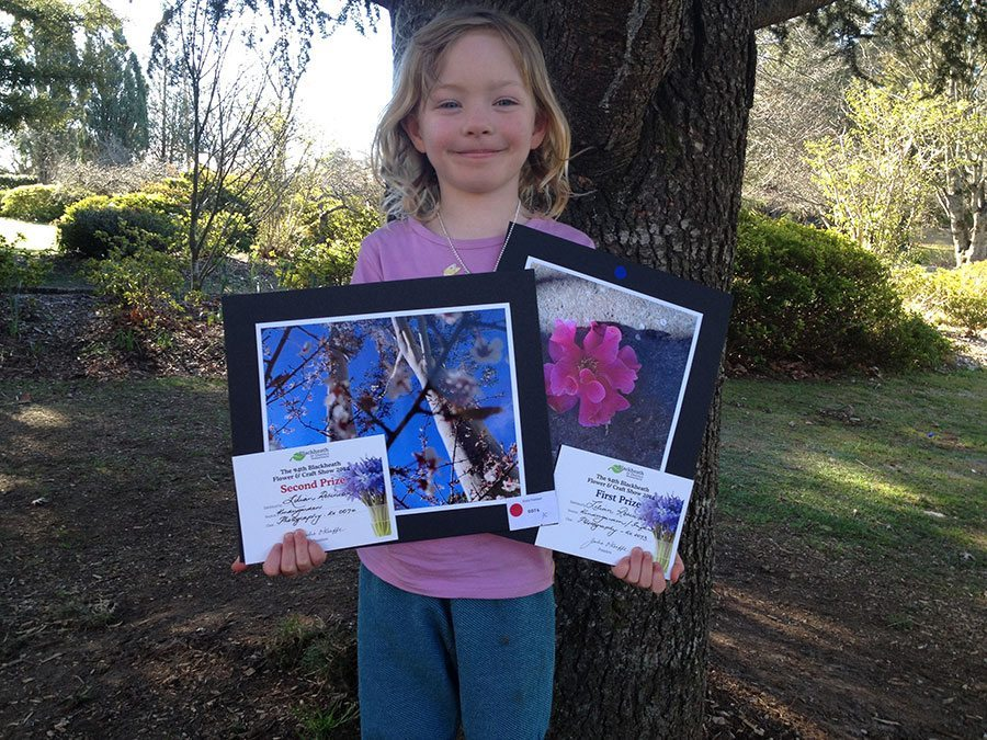 Lillian with her winning photos.
