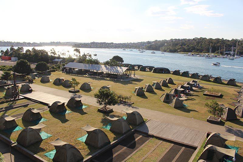 The tents on Cockatoo Island