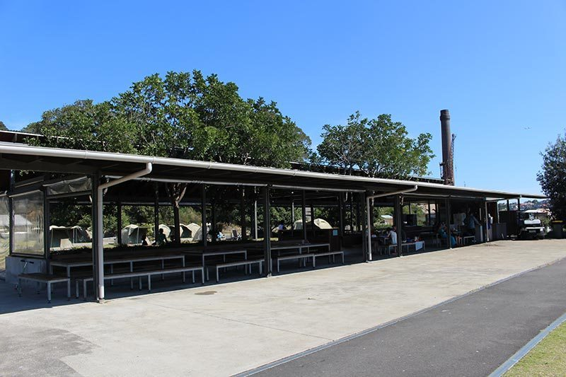 BBQ, Kitchen and eating area for those who camp on Cockatoo Island.