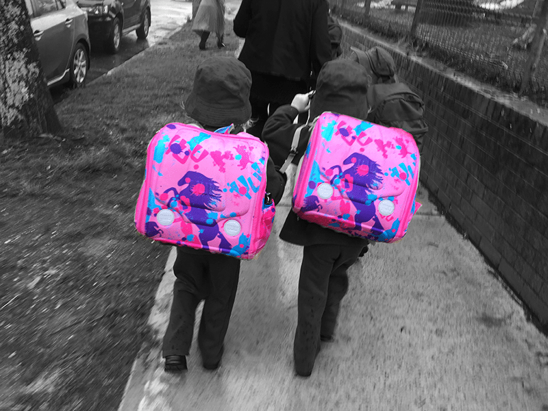 The twins first day of grade 1