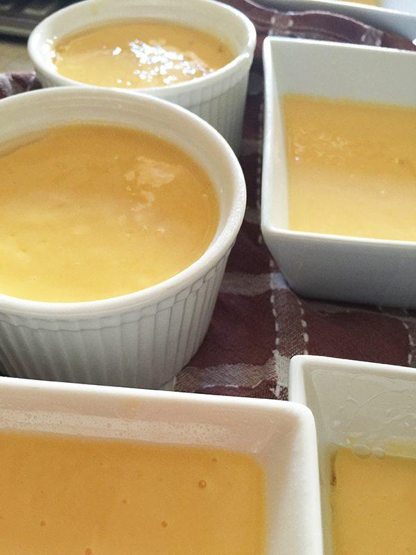 All ready to set in the fridge. Mango pudding will be my dessert tonight!