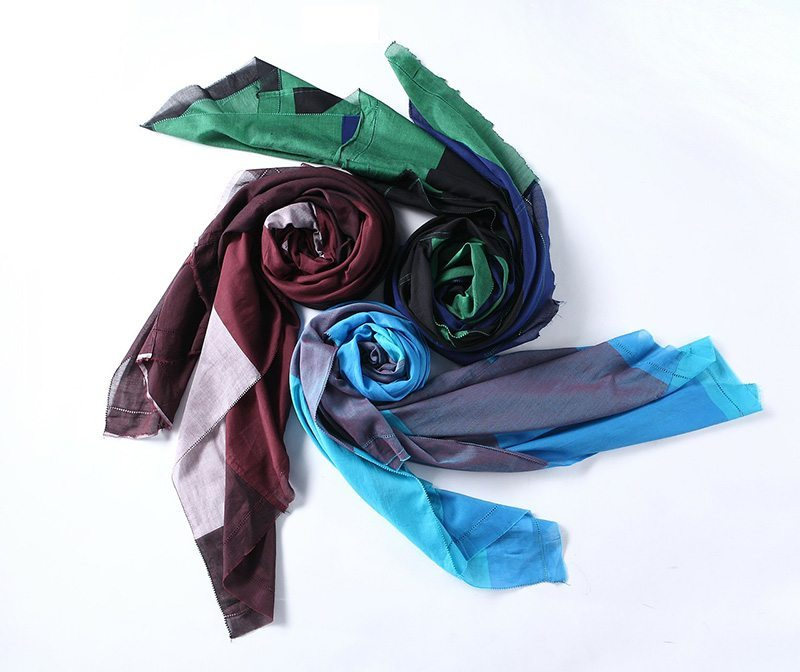 Colourful scarfs to help change your look.