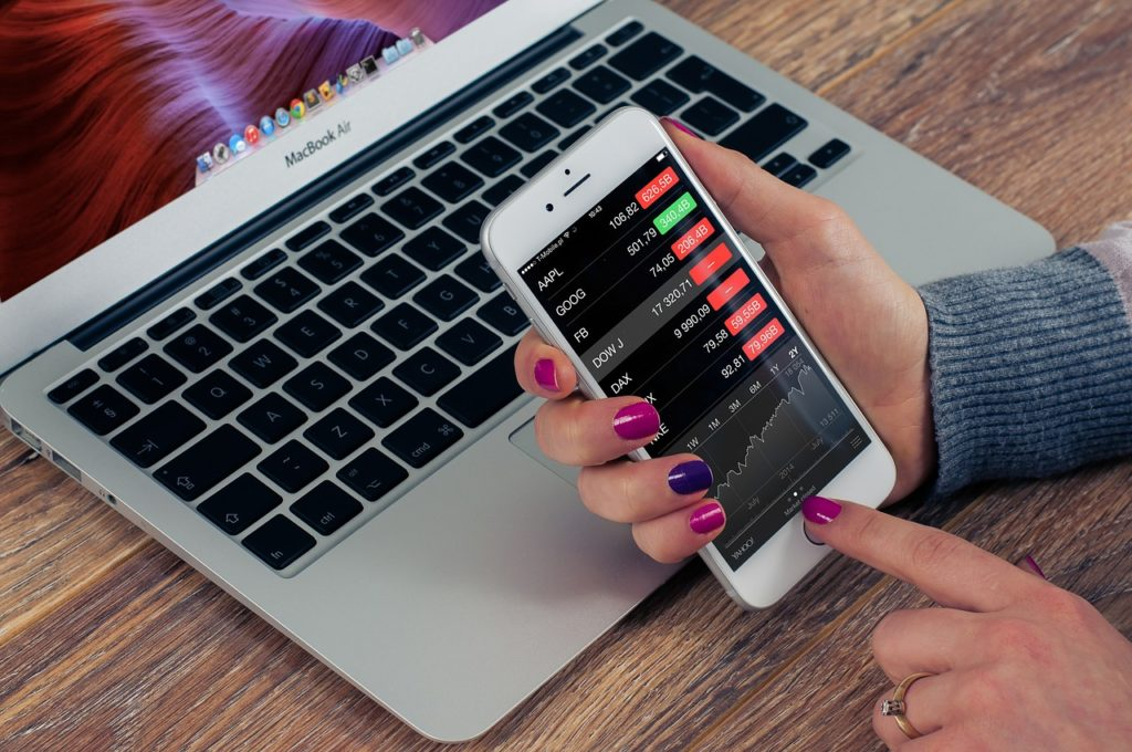 You can check how your stocks and shares are going from anywhere. It is a truly portable job.