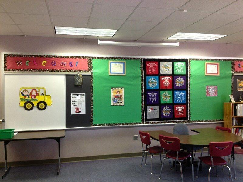 The classroom all set for parent teacher interviews