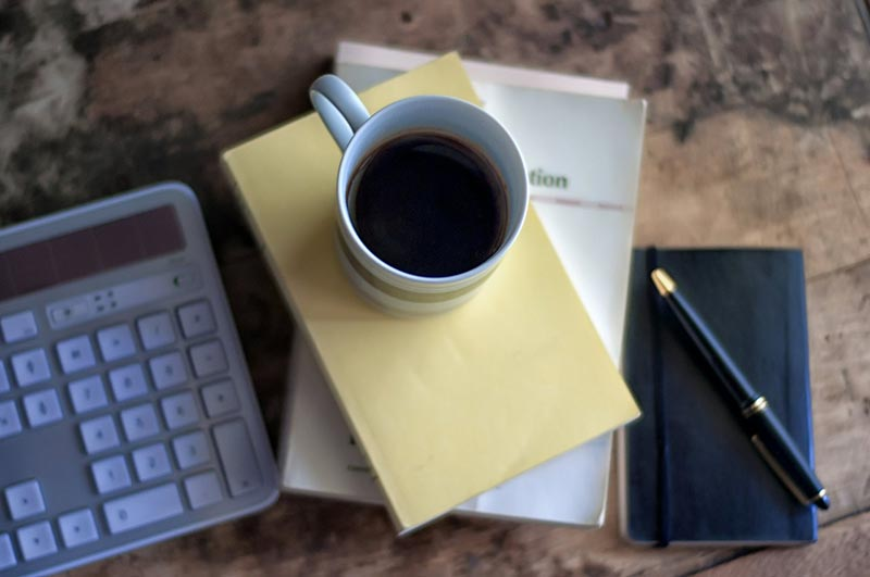 Coffee and tools to work from home. Off to get a lot done!