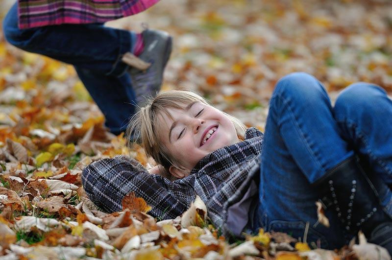 Kids playing and having fun