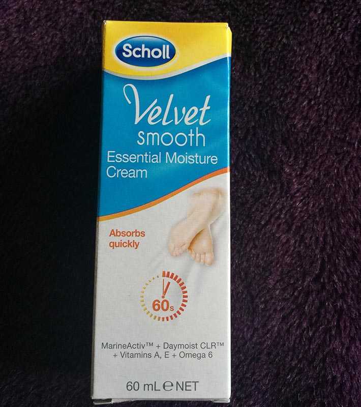 This is a brilliant moisture cream. It was just the right consistency and also absorbed quickly without being oily. Perfect way to end a Scholl's Pedicure.