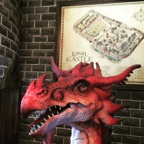 The dragon at Kryal Castle