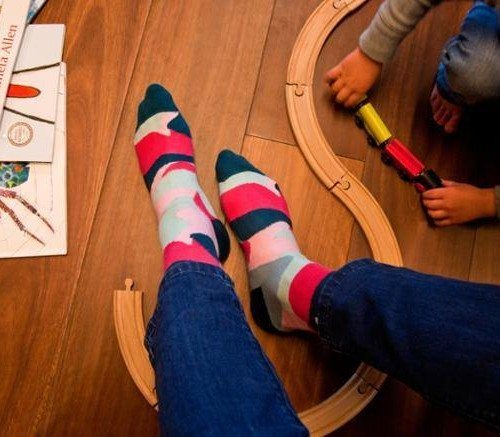 Soxy Beast socks designed by Melbourne artist Lindsay Blamey. Don't they look funky!