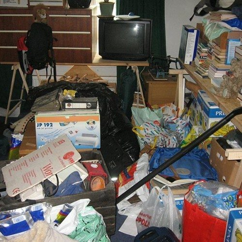 De-cluttering and sorting. It is a tough job but once done you feel great!