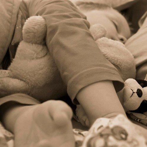 Sick child sleeping