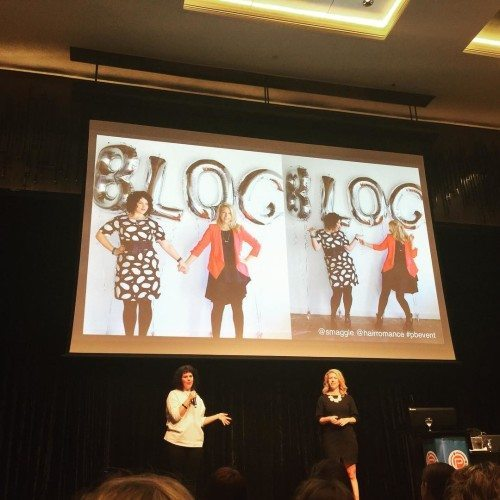 Carly Jacobs from Smaggle and Christina Butcher from Hair Romance during their talk.