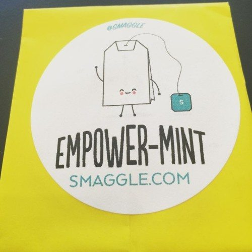 My lovely gift from Carly at Smaggle. Empower-mint Tea!