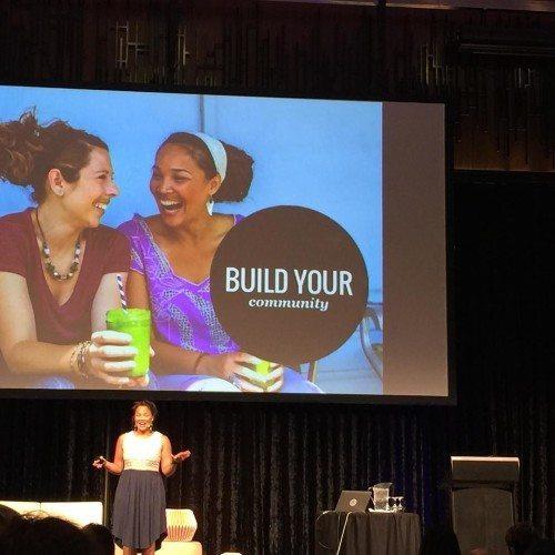 Jadah during her talk at Problogger