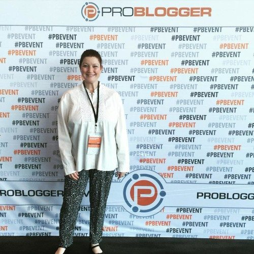 Having fun at Problogger. Photo taken by the lovely Carly Findlay