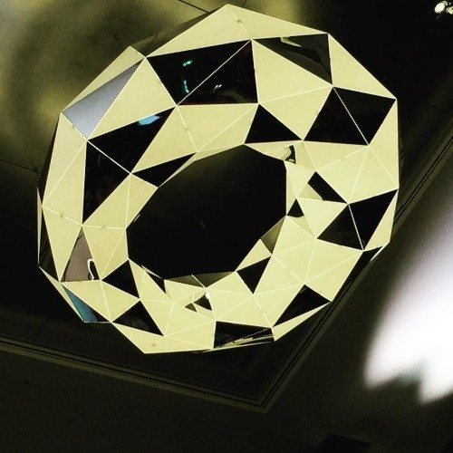 A close up of the fab lights at RACV Royal Pines while at Problogger