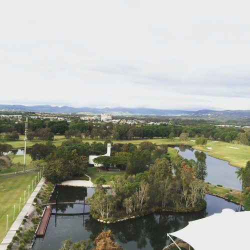 My view from my hotel room at RACV Royal Pines Resort