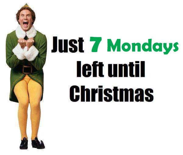 As of today 3rd of Nov 2015 there is only 7 Mondays left until Christmas. I thought it might be wrong but I checked. Image shared from Practical Parenting Magazine.