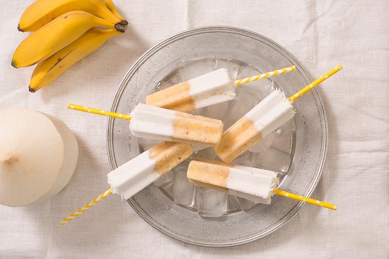 Banana and Coconut Milk Pops