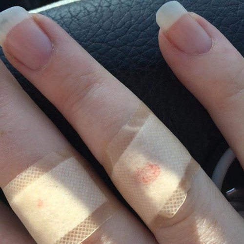 My poor fingers were very sore when it happened. Love my long nails that have now been clipped due to breaking them yesterday cleaning up.