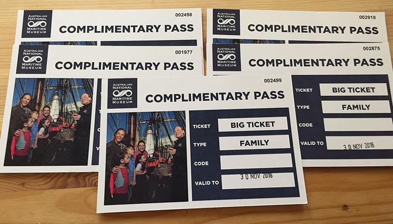 All 5 BIG Family Tickets to The Maritime Museum