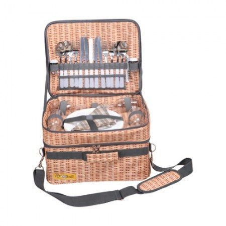 Oztrail Picnic Set Wicker Style