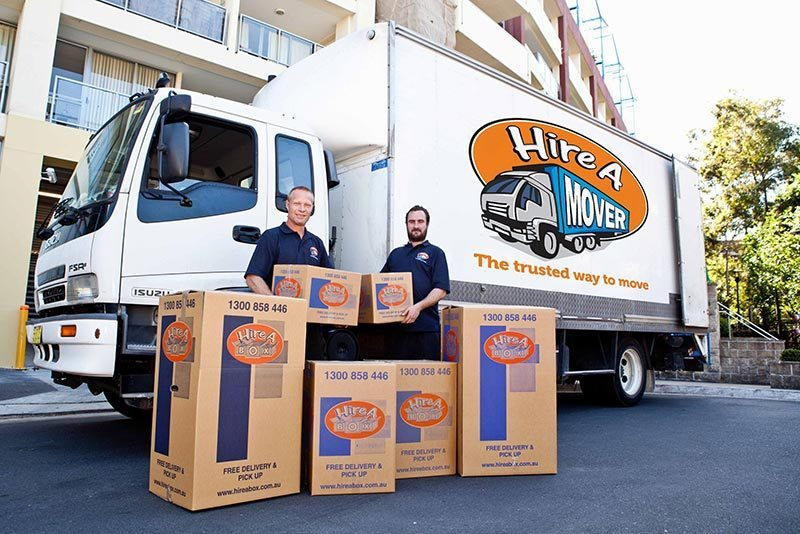 The moving men from Hire A Mover. Ready and able to help you with your next move.