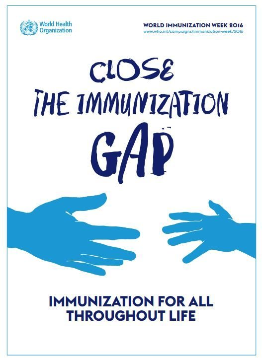 The WHO poster for World Immunisation Week