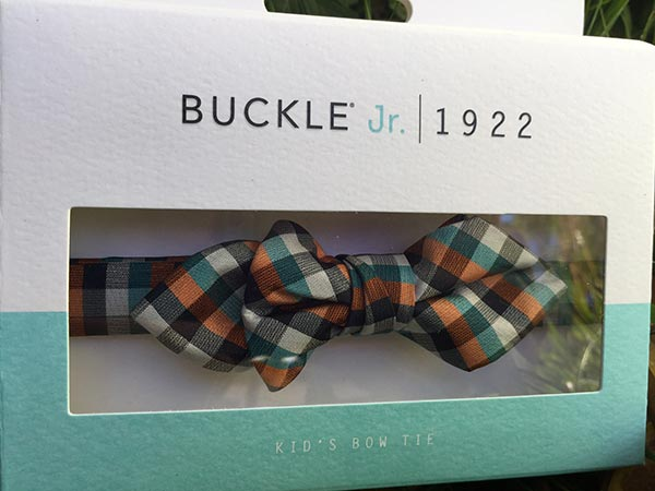 KID'S BOW TIE, BDT JR PLAID, ORANGE