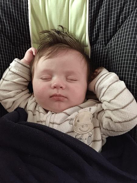Alexander loves the lullabies on the JOHNSON'S® BEDTIME™ baby sleep app