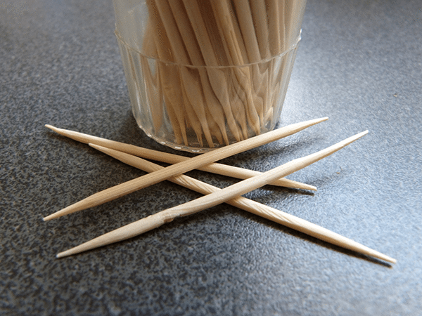 Toothpicks that might be helpful in keeping my eyes open.