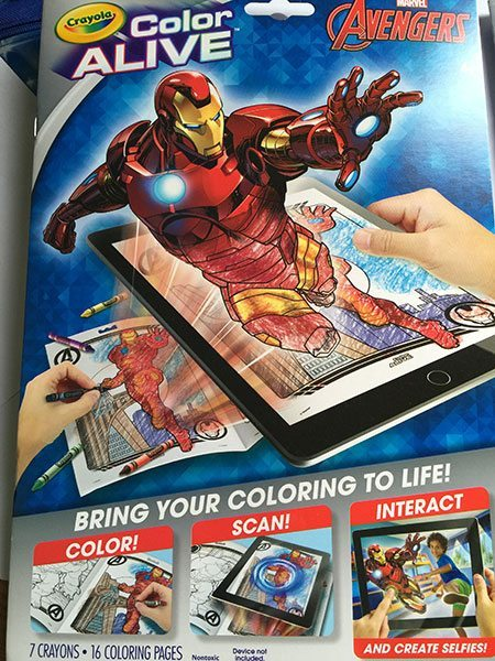 Avengers Crayola 'Color Alive'