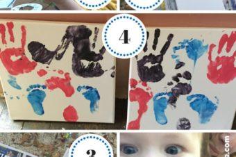 DIY: Hand & Foot Print Canvas