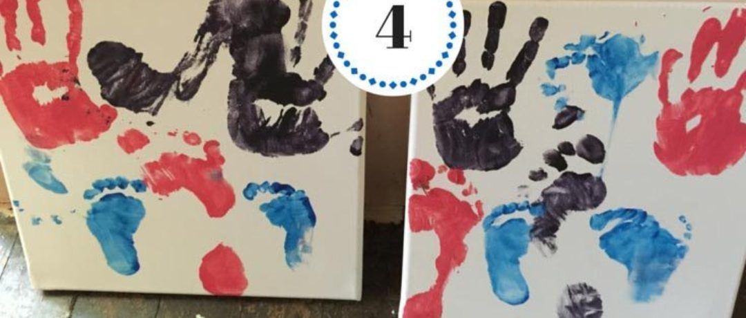 DIY: Hand & Foot Print Canvas