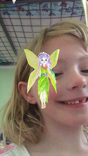 Geez this fairy was in everyone's photo.