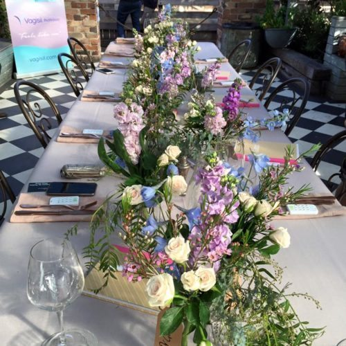 Look how pretty the table was for our amazing lunch and great company. Thanks to Vagisil for the great event.