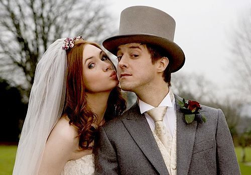 Amy Pond and Rory Williams, from Doctor Who. Image found on Pinterest.