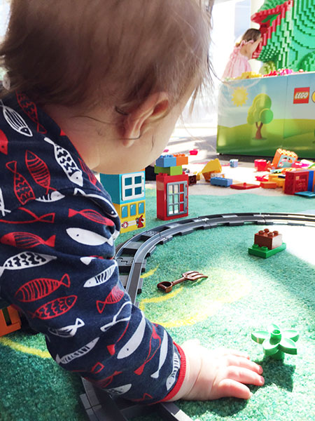 Having a blast exploring all the blocks and new things that LEGO DUPLO offer.