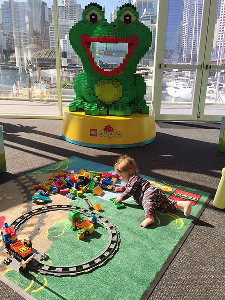 Alexander loved playing with LEGO DUPLO. When he is older I'm sure he will build amazing worlds.