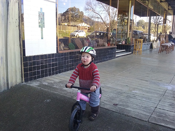 Soon Max will be zipping around on his balance bike. Did your kids first learn to ride on a balance bike?