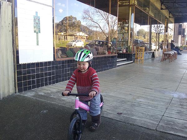 Max having fun riding his Little Nation Balance Bike.