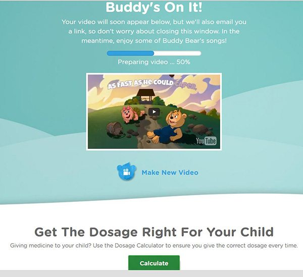 Buddy Bear - The great new interactive way to keep your little one entertained while you get the medicine sorted to help your child get better. Developed and created by Children's Panadol.