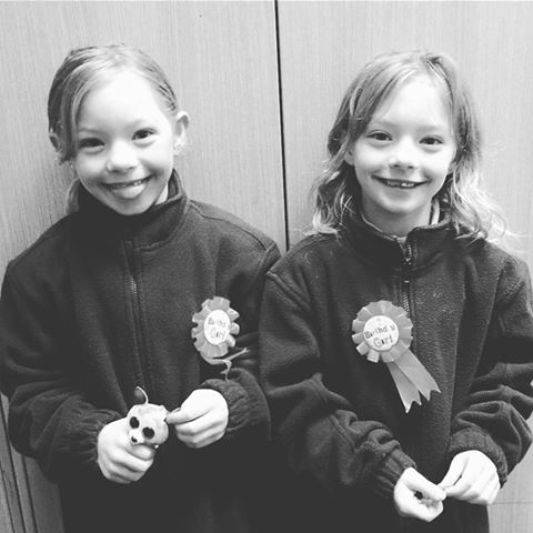 The girls are eight years old today! Yes they were super excited to be turning eight and also up extremely early to open their presents. Mummy was also up very late baking and decorating cupcakes for the kids to celebrate at school on their actual day.