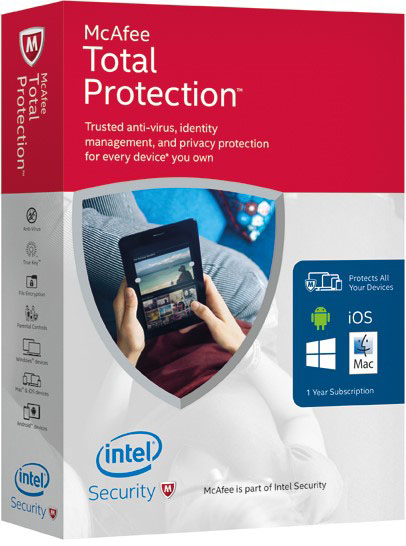 10 readers can win copies of McAfee Total Protection valued at $129.95 each. Keep safe online with Intel Security.