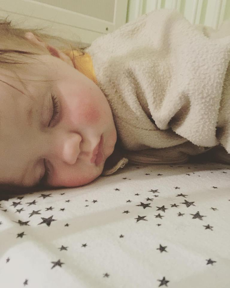 My cute little boy asleep... I just love his cute pouty lips and kissable cheeks.