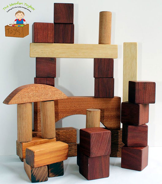 Wooden Blocks from The Wooden Toy Box